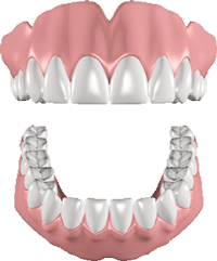 animation of the teeth whitening process